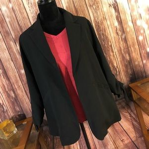 NWT Doe & Rae black cinch sleeve blazer size L!
